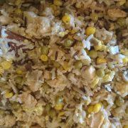 Kurczak z ryżem w jajku