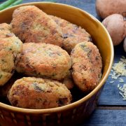 Krokieciki ryżowe z pieczarkami i serem
