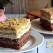 Ciasto kakaowo-waniliowe - bez pieczenia