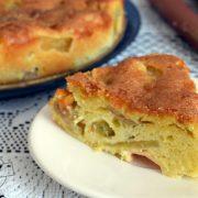 Ciasto z ricottą i rabarbarem