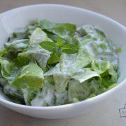 Sałata zielona z miętą