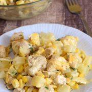 Sałatka z kurczakiem w sosie curry