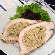 Filet z indyka z farszem drobiowo-pieczarkowym