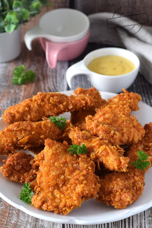 Chrupiace Nuggetsy Z Kurczaka Smazone Smaki Na Talerzu