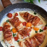 Filet z kurczaka z boczkiem w sosie gorgonzola