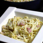 Makaron z sosem z gorgonzoli