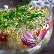 Sałatka kalafiorowa z kiełkami