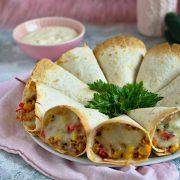 Zapiekane rożki z tortilli