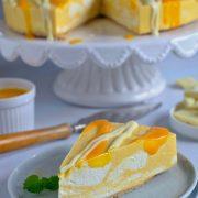 Sernik z mango - bez pieczenia