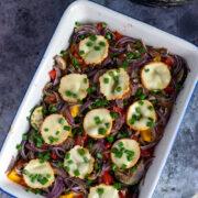 Warzywa zapiekane z oscypkiem